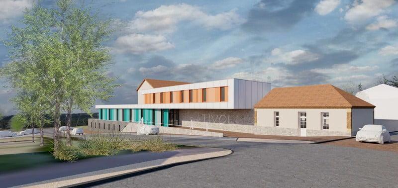 Lancement des travaux de l'École de Tivoli à Dompierre sur Besbre (03)