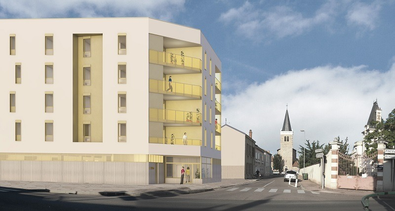 Logements rue Dorian au Coteau (42)